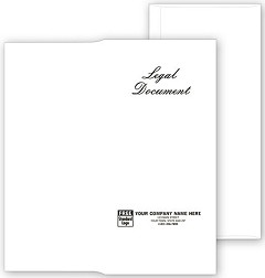 Engraved Legal Document Envelopes - 100 Envelopes