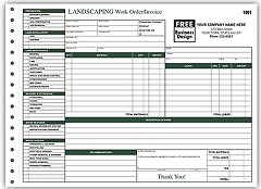 Landscaping Work Orders -  250 Forms