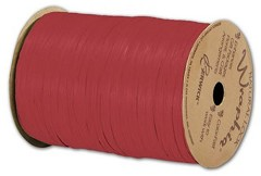 "Matte Wraphia Imperial Red Ribbon, 1/4"" x 100 Yds - 1 Roll"