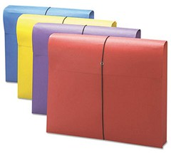 "2"" File Wallet, Letter 4 Color - Set of 4 File Pockets"