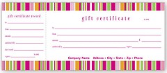 Gift Certificate - 100 Certificates