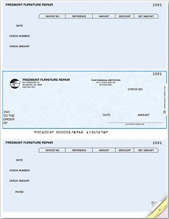 Laser Printer Accounts Payable Middle Check, Quantity 250