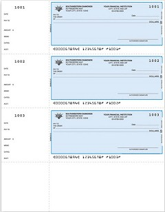 Laser Printer Wallet Check, Three per Page, Lined, Quantity 300