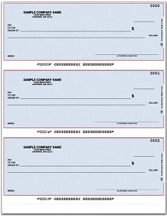 Laser 3-To-A-Page Checks, Lined - 250 Checks