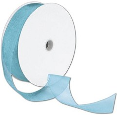 "Organdy Robin's Egg Ribbon, 1 1/2"" x 100 Yds -  1 Roll"