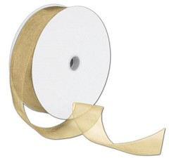 "Sheer Organdy Gold Ribbon 1 1/2"" x 100 Yds - 1 Roll"