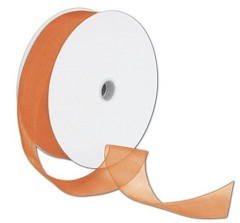 "Sheer Organdy Orange Ribbon, 1 1/2"" x 100 Yds - 1 Roll"