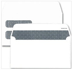 Double Window Security Lined Envelope - 6 7/8 x 3 5/8 - 250 envelopes