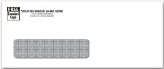 "Single WIndow Security Lined Envelope 8 5/8"" x 3 5/8""  -  250 Envelopes"