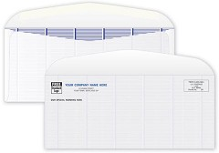 "Secure Blue Tint Envelope 8 7/8"" x 3 7/8""  -   250 Envelopes"
