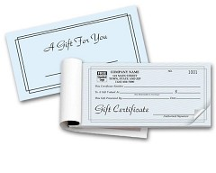 Gift Certificates Booked - 100 Certificates