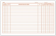 Dental Continuation Exam Records, 2 Sided - 250 Cards