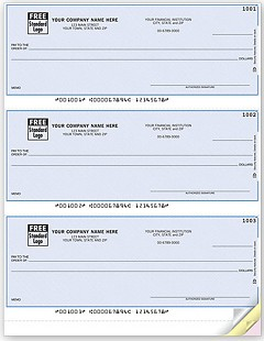 Laser Printer 3-on-a-Page Check, Lined,300 Checks