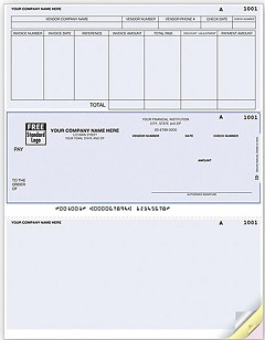 Accounts Payable Laser Check, Middle Location, Quantity 250
