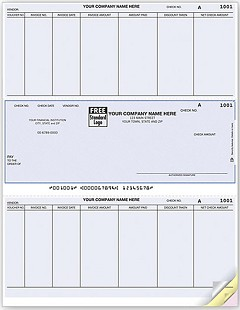 Laser Printer Accounts Payable Middle Check -  250 Checks
