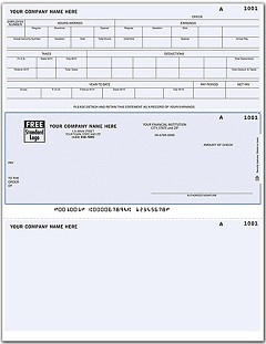 Laser Payroll Check, Middle Location - 250 Checks