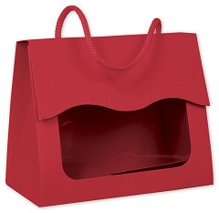 "Red Gourmet Gift Totes 5 1/8 x 2 5/8 x 4 1/4""  -  6 Boxes"