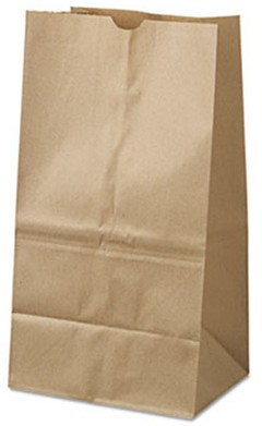 Paper Bag, 40lb Kraft, Brown, 8 1/4 X 6 1/8 X 15 7/8 - 500 Bags