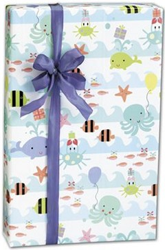 "Sea Babies Gift Wrap, 24"" x 100' -  1 Roll"