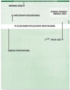 Canadian Compliant Blank Laser Cheque Stock - 2,500 checks