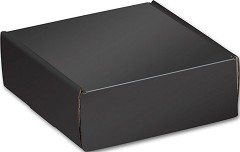 Black Decorative Shipping, 6 x 6 x 2 - 1 pack of 6 mailers