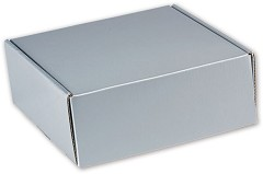 Silver Metallic Decorative Shipping 8 x 8 x 3  -  6 Mailers