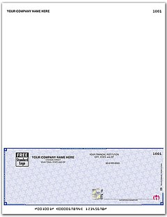 High Security Laser Payroll Check, Bottom Location, Quantity 250