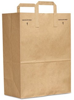 Paper Bag E-Z Tote Handle Sack - 300 Bags