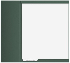 Index Tab Divider - Top Staple - Filing Instructions - 50 Dividers
