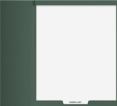 Index Tab Divider - Top Staple - Federal Copy - 50 Dividers